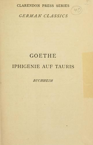 Iphigenie auf Taurus, a drama.