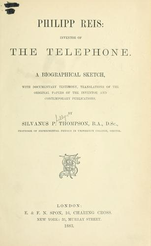 Philipp Reis, inventor of the telephone
