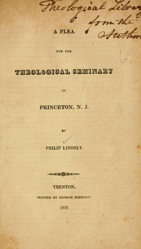 Download A plea for the Theological Seminary at Princeton, N.J.