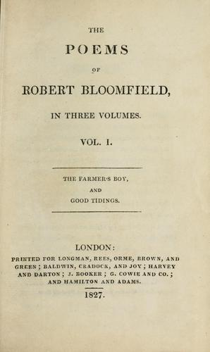 The poems of Robert Bloomfield.