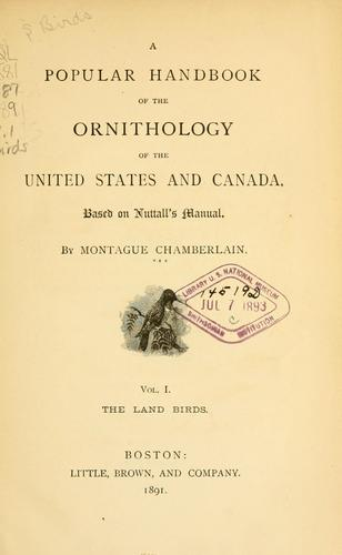 Download A popular handbook of the ornithology of the United States and Canada