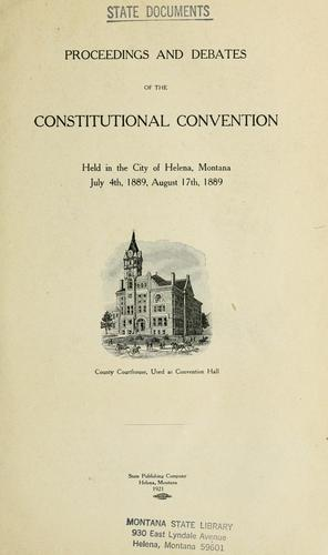 Proceedings and debates of the Constitutional convention