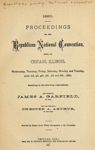 Download Proceedings of the Republican National Convention
