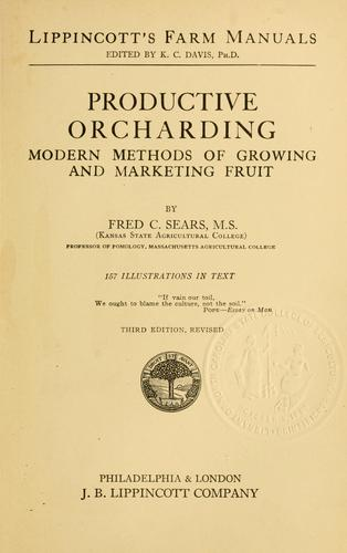 Download Productive orcharding