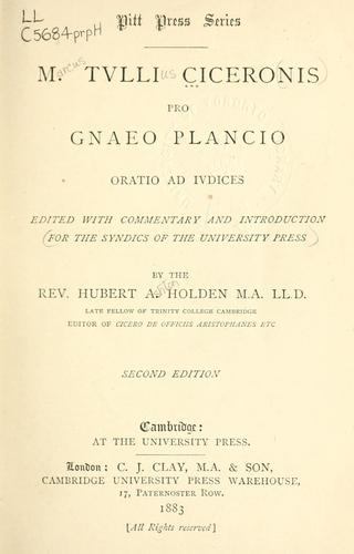 Pro Gnaeo Plancio