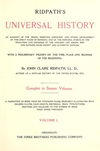 Download Ridpath's Universal history
