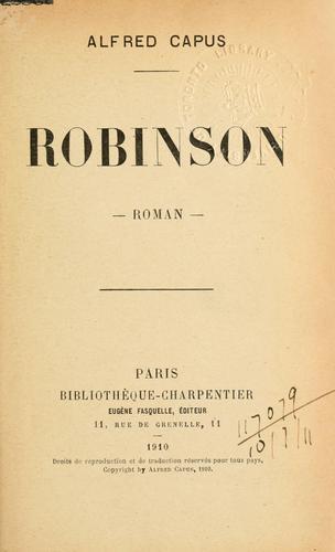 Robinson, Roman.