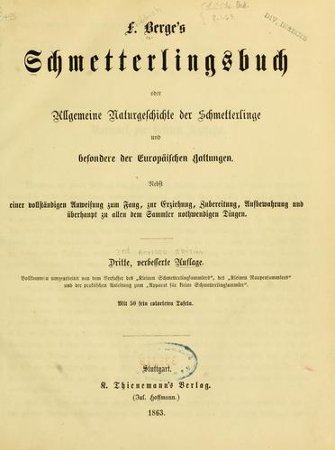 Download F. Berge's Schmetterlingsbuch