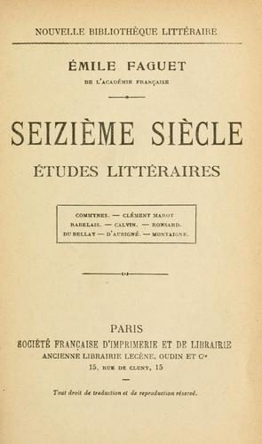 Seizième siècle