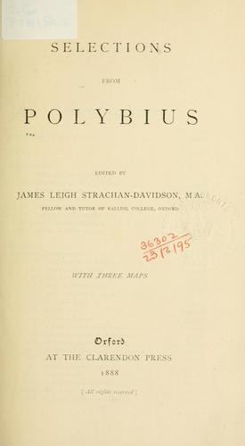Selections from Polybius by Polybius.