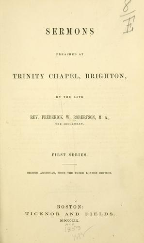 Download Sermons preached at Trinity chapel, Brighton