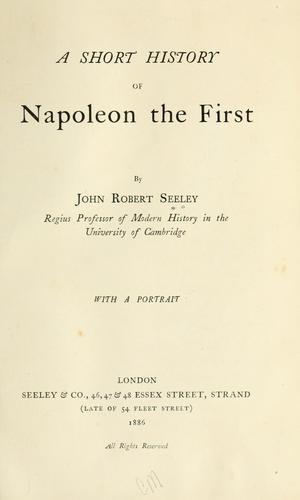 A short history of Napoleon the First