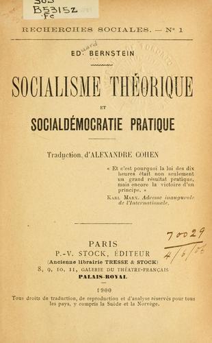 Download Socialisme théorique et social democratie pratique