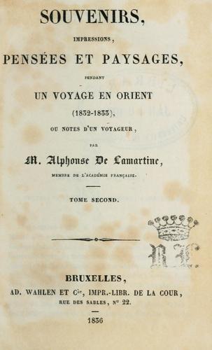 Download Souvenirs, impressions, pensées et paysages, pendant un voyage en orient, 1832-1833