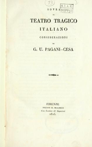 Sovra il teatro tragico italiano