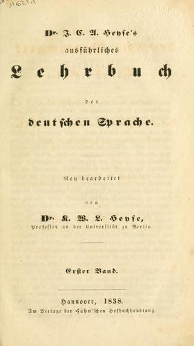 Download Ausführliches Lehrbuch der deutschen Sprache