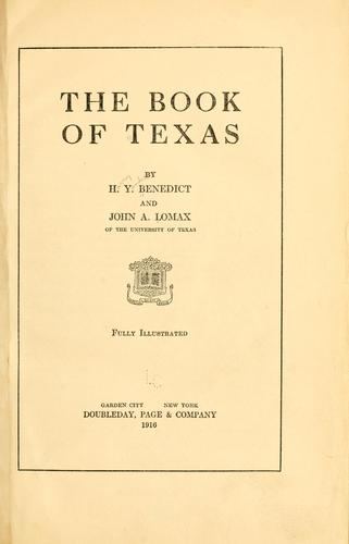 Download The book of Texas