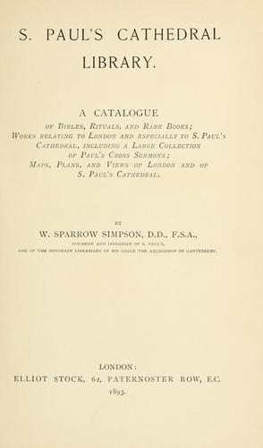 Download S. Paul's cathedral library.