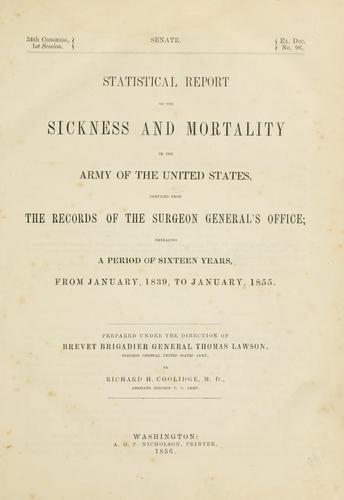 Download Statistical report on the sickness and mortality in the army of the United States …