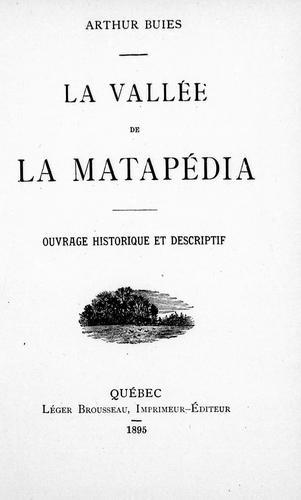 Download La vallée de la Matapédia