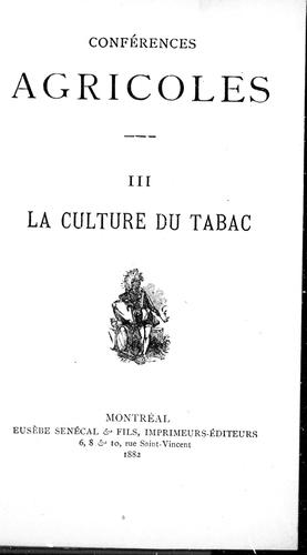Download La culture du tabac