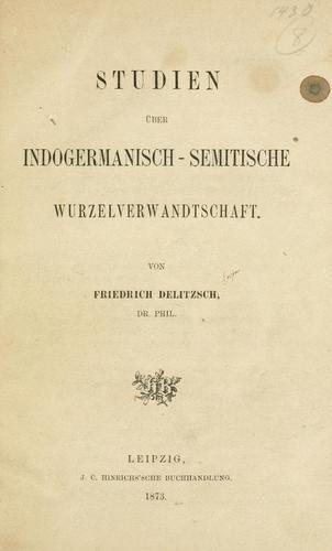 Studien über indogermanisch-semitische Wurzelverwandtschaft