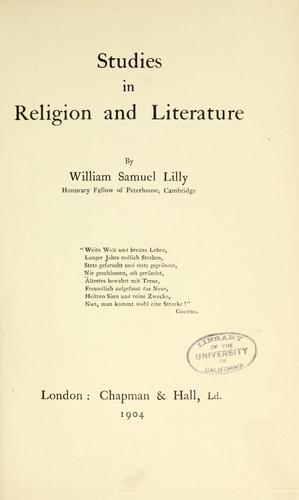 Download Studies in religion and literature