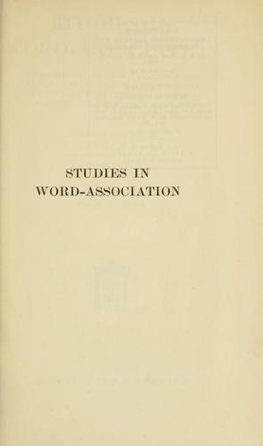 Studies in word-association