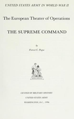 The Supreme Command