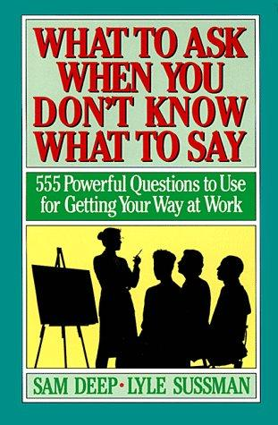 Download What to ask when you don't know what to say