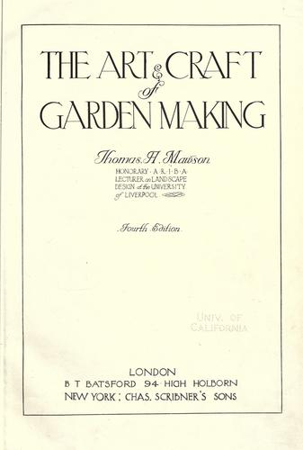 Download The art & craft of garden making