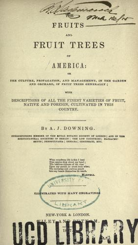 Download The fruits and fruit trees of America