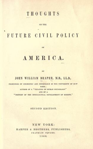 Thoughts on the future civil policy of America.