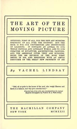 The art of the moving picture …