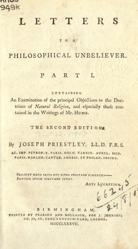 Letters to a philosophical unbeliever …