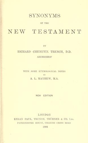 Download Synonyms of the New Testament