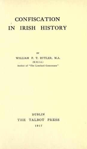 Download Confiscation in Irish history