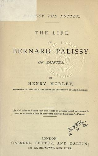Palissy the potter