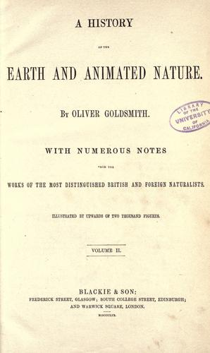 Download History of the earth and animated nature