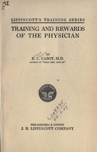 Download Training and rewards of the physician.