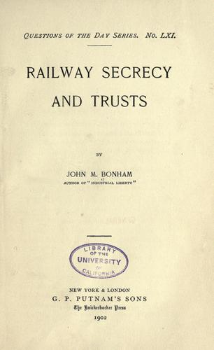 Download Railway secrecy and trusts