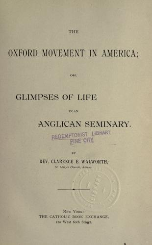 Download The Oxford movement in America