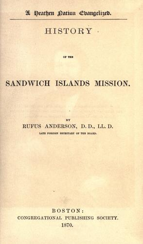Download History of the Sandwich Islands Mission.