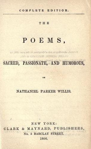 The poems: sacred, passionate and humorous.