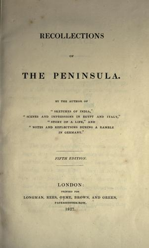 Download Recollections of the Peninsula