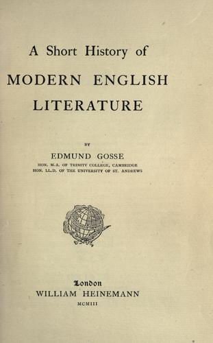 A short history of modern English literature.