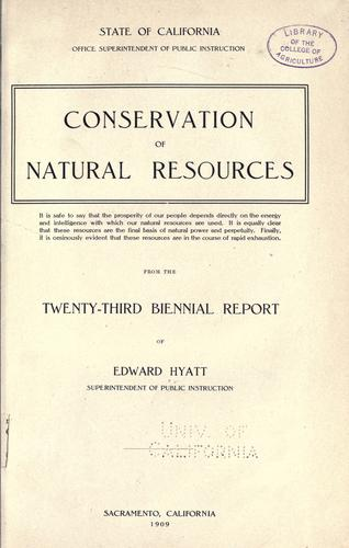 Download Conservation of natural resources …