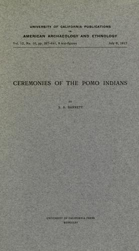 Download Ceremonies of the Pomo Indians