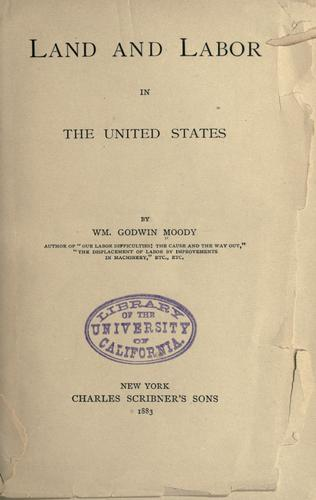 Download Land and labor in the United States