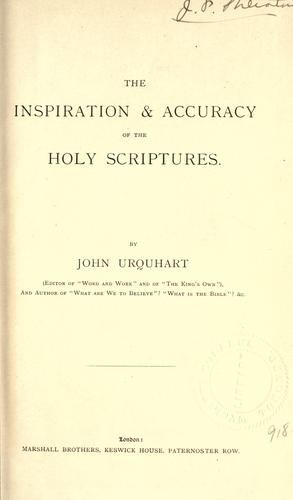 Download The inspiration and accuracy of the Holy Scriptures.
